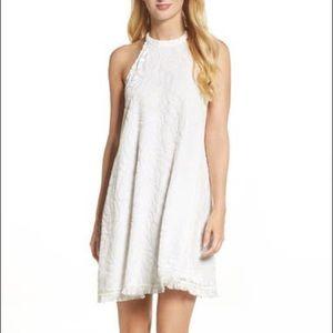 Altar'd State Halter White Lace Overlay Dress Sm
